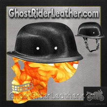 Real Carbon Fiber German Style Novelty Motorcycle Helmet / SKU GRL-2004G-DH-motorcycle helmet-Ghost Rider Leather