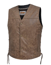 UNIK Men's Arizona Brown Leather Vest