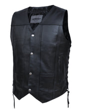 UNIK Men's Premium Leather 10-Pocket Vest