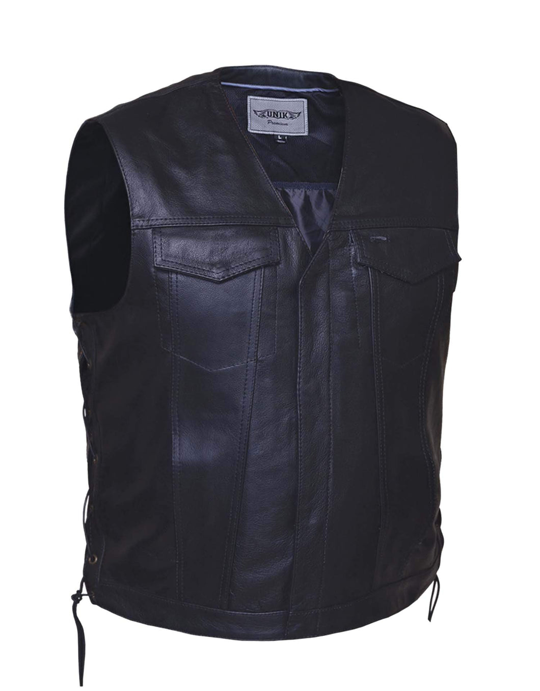 UNIK Men's Premium Leather SOA Style Vest