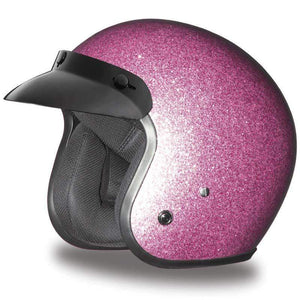 DOT Daytona Cruiser Metal Flake Color Choice Open Face Motorcycle Helmet / SKU GRL-DC7-A-DH-dot motorcycle helmet-Ghost Rider Leather