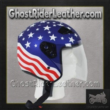America DOT Motorcycle Helmet with Flip Shield / SKU GRL-RK5A-HI-dot motorcycle helmet-Ghost Rider Leather