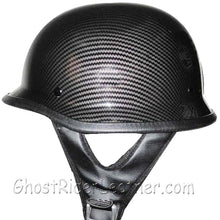 DOT Carbon Fiber LOOK German Motorcycle Shorty Helmet / SKU GRL-320CL-HI-dot motorcycle helmet-Ghost Rider Leather