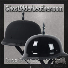 3 Inch Spike German Novelty Motorcycle Helmet Flat or Gloss / SKU GRL-3INCH-SPIKE-GERMAN-NOV-HI-novelty motorcycle helmet-Ghost Rider Leather