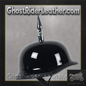 4.5 Inch Spike German Novelty Motorcycle Helmet Flat or Gloss / SKU GRL-4.5INCH-SPIKE-GERMAN-NOV-HI-novelty motorcycle helmet-Ghost Rider Leather
