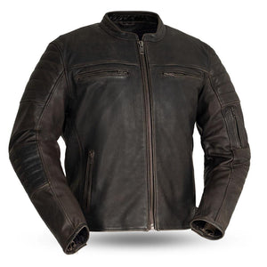 Commuter - Men's Motorcycle Leather Jacket - FIM277CVZ - Ghost Rider Leather