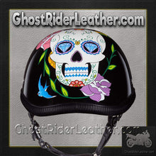 Eagle Style with Diamond Sugar Skull Novelty Motorcycle Helmet - SKU GRL-6002DS-DH - Ghost Rider Leather