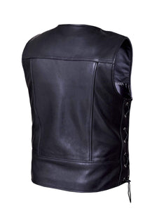 UNIK Men's Premium Leather Motorcycle Vest