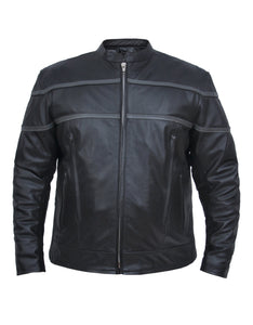 UNIK Men's Premium Lightweight Leather Motorcycle Jacket