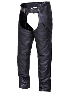 UNIK Unisex Premium Leather Chaps - SKU GRL-7102-K-UN - Ghost Rider Leather