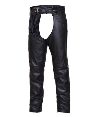 UNIK TALL Premium Leather Motorcycle Chaps - SKU GRL-6120-TL-UN - Ghost Rider Leather