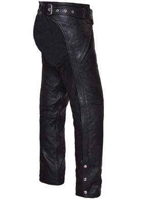 UNIK Unisex Ultra Leather Motorcycle Chaps - SKU GRL-6126-00-UN - Ghost Rider Leather