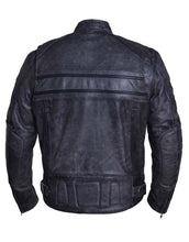 UNIK Men's Tombstone Gray Premium Leather Motorcycle Jacket