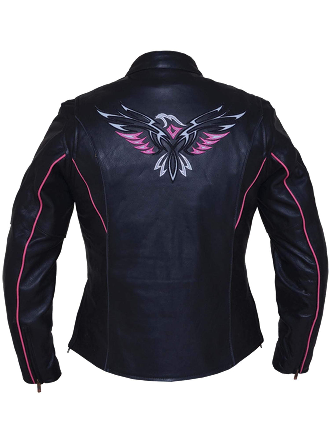 UNIK Ladies Premium Leather Jacket With Eagle Wings - Ghost Rider Leather