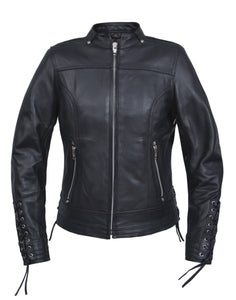 UNIK Ladies Ultra Leather Motorcycle Jacket - Ghost Rider Leather