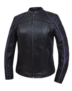 UNIK Ladies Motorcycle Premium Leather Jacket - Ghost Rider Leather