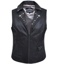 UNIK Ladies Premium Leather Motorcycle Vest