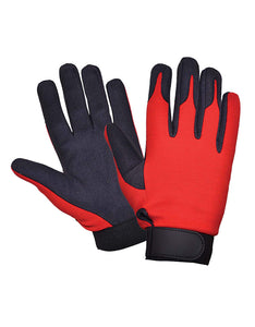 UNIK Full Finger Mechanic Gloves - Ghost Rider Leather