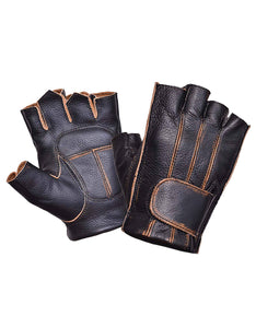 UNIK Nevada Brown Fingerless Gloves - Ghost Rider Leather