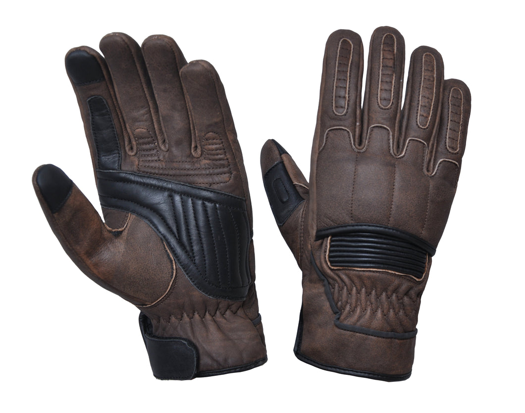 UNIK Full Finger Brown Kevlar Leather Gloves