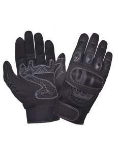 UNIK Full Finger Gloves with Knuckle Armor - Ghost Rider Leather