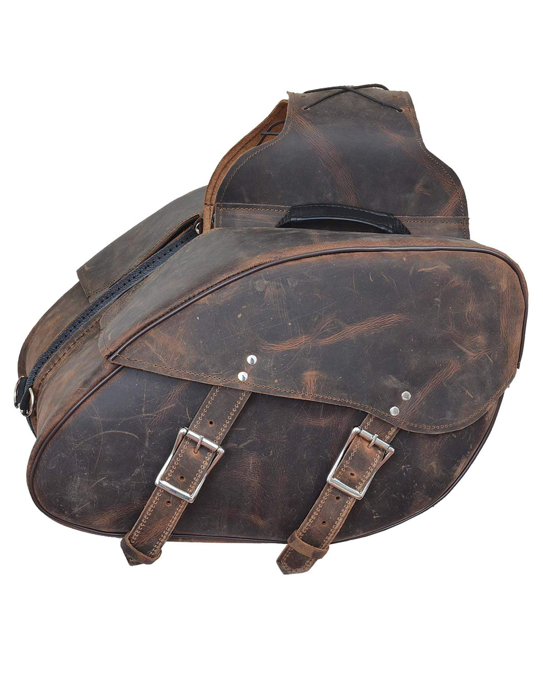UNIK Leather Saddle Bags - Ghost Rider Leather