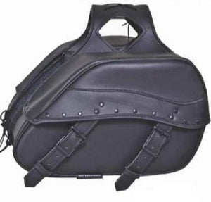 UNIK PVC Saddle Bags With Rivets Design - SKU GRL-9566-00-UN - Ghost Rider Leather