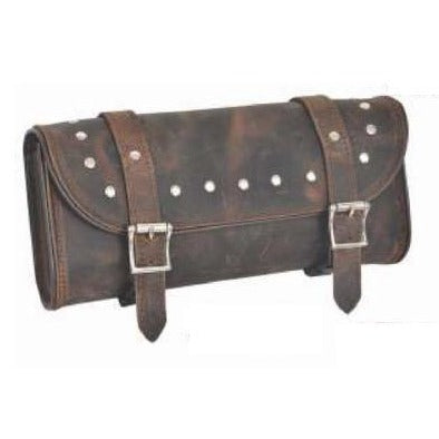 UNIK Brown Leather Tool Bag With Studs - SKU GRL-9666-00-UN - Ghost Rider Leather
