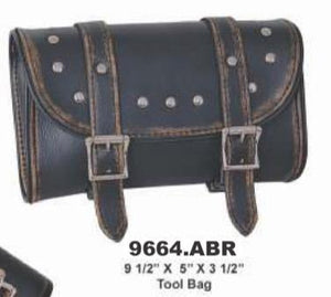 UNIK Distressed Brown Leather Tool Bag - SKU GRL-9664-ABR-UN - Ghost Rider Leather
