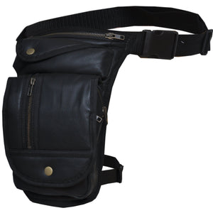 UNIK Ladies Leather Thigh Bags - SKU GRL-9799-00-UN - Ghost Rider Leather