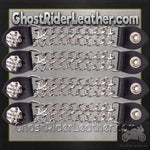 Set of Four Spike Design Vest Extenders with Chrome Chain / SKU GRL-AC1081-DL-vest extender-Ghost Rider Leather
