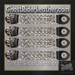 Set of Four Soaring Eagle Vest Extenders with Chrome Chain / SKU GRL-AC1098-E-DL-vest extender-Ghost Rider Leather