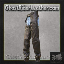 Mens Tall Length Motorcycle Leather Chaps / SKU GRL-AL2409-TALL-AL-leather chaps-Ghost Rider Leather