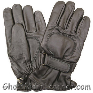 Lined Leather Riding Gloves with Velcro Tab - SKU GRL-AL3063-AL-leather riding gloves-Ghost Rider Leather