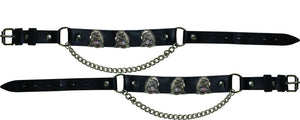 Pair of Biker Boot Chains - Eagle With USA Flag - SKU GRL-BC15-DL - Ghost Rider Leather