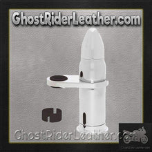 Motorcycle Bullet Storage Tube / Choice of Colors / SKU GRL-BKBLTST-2-3-BN - Ghost Rider Leather