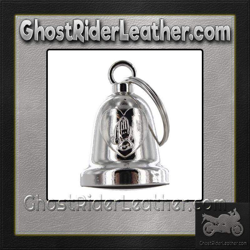 Praying Hands Inside Heart - Motorcycle Ride Bell - SKU GRL-BLC23-DL - Ghost Rider Leather