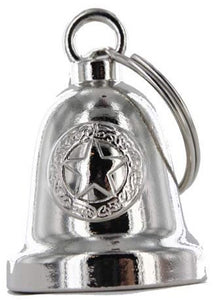 Police Star - Chrome Motorcycle Ride Bell - SKU GRL-BLC24-DL - Ghost Rider Leather