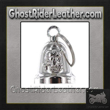 Skull and Crossbones - Chrome Motorcycle Ride Bell - SKU GRL-BLC25-DL - Ghost Rider Leather