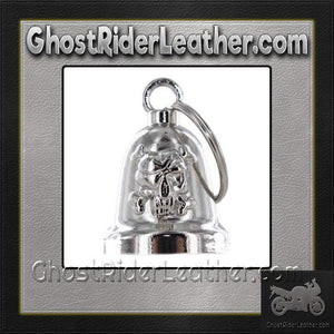 Skull and Crossbones - Motorcycle Ride Bell - SKU GRL-BLC25-DL-motorcycle ride bell-Ghost Rider Leather