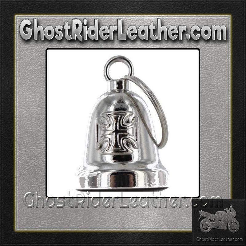 Iron Cross - Chopper Cross Motorcycle Ride Bell - SKU GRL-BLC26-DL-motorcycle ride bell-Ghost Rider Leather