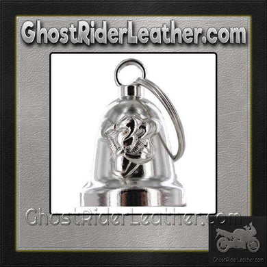 Gripping V-Twin Engine - Motorcycle Ride Bell - SKU GRL-BLC28-DL-motorcycle ride bell-Ghost Rider Leather