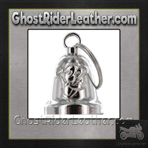 Gripping V-Twin Engine - Motorcycle Ride Bell - SKU GRL-BLC28-DL - Ghost Rider Leather