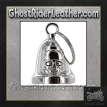 Skull - Chrome Motorcycle Ride Bell - SKU GRL-BLC29-DL - Ghost Rider Leather