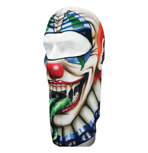 Balaclava Full Face Mask - Creep Clown Design - SKU GRL-CREEPCLOWN-HI