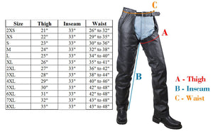 Plain Motorcycle Leather Chaps for Men or Women - SKU GRL-C4325-04-DL - Ghost Rider Leather