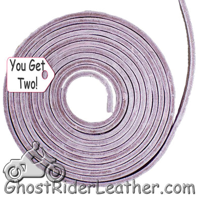 You Get TWO - 6 Foot Lengths of Pink Leather Lacing SKU GRL-CE3-PINK-X2-GRL - Ghost Rider Leather