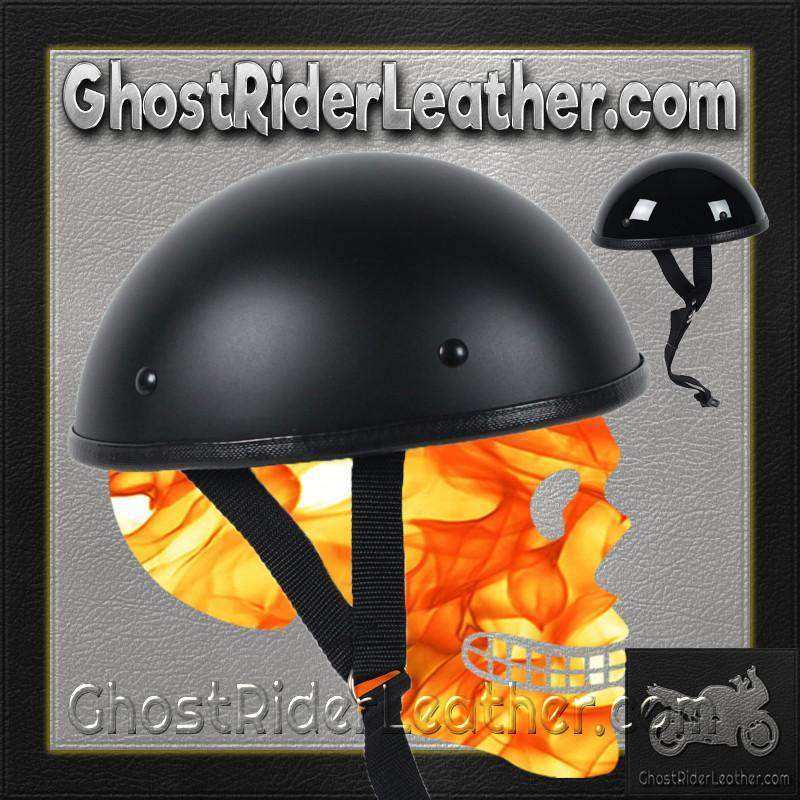 Classic Shorty Novelty Motorcycle Helmet Flat or Gloss / SKU GRL-CLASSIC-NOV-HI - Ghost Rider Leather