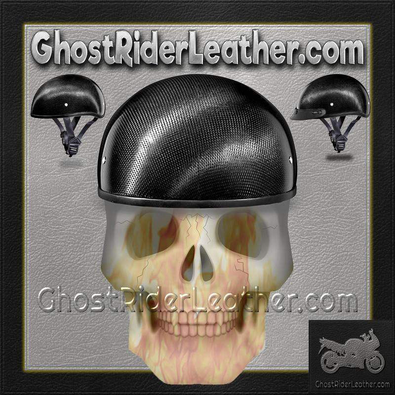 58439b3f664 ... Real Carbon Fiber DOT Daytona Skull Cap Motorcycle Helmet With Or  Without Visor   SKU GRL ...