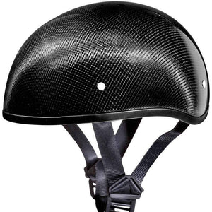 Real Carbon Fiber DOT Daytona Skull Cap Motorcycle Helmet With Or Without Visor / SKU GRL-DS-G-GNS-DH - Ghost Rider Leather
